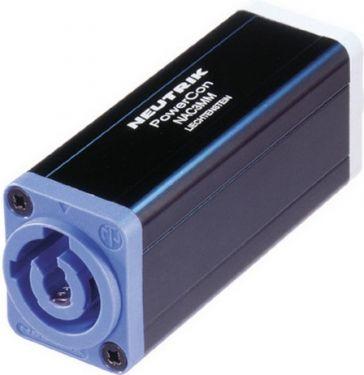 PowerCon 3pol forlænger adaptor blå/grå