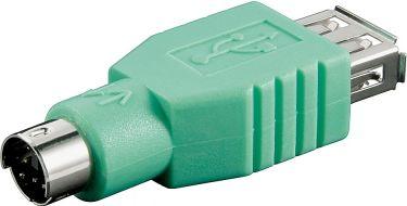 USB adapter - A hun til PS/2 han, Grøn (tastatur eller mus)
