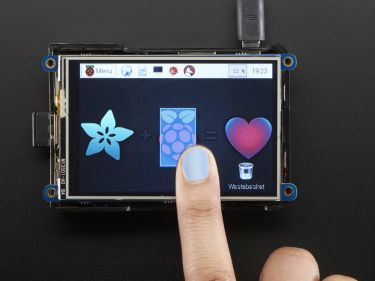 "PiTFT - 3,5"" TFT+Touchskærm til Raspberry Pi (Ny version)"
