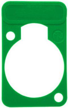 Chassis plade med label, grøn