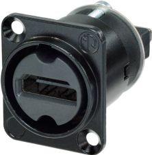 HDMI chassis fatning V1,3 & 2,0 kompatibel med 4K, sort hus