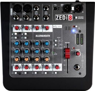 A&H ZED8i 8 kanals live & recording mixer m/USB