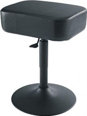 K&M pianostol 4-kantet, sort imit-læder, højde 47-60 cm