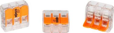 Wago - Kabel samlekonnektor - 3 x 0,2-4mm², til alle ledningstyper