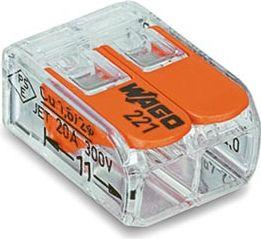 Wago - Kabel samlekonnektor - 2 x 0,2-4mm², til alle ledningstyper