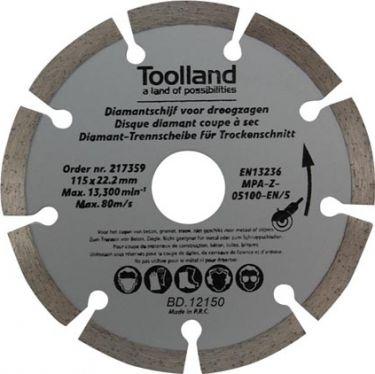 Toolland - Diamantskive t. tørskæring - Segmenteret, Ø150mm (3 stk.)