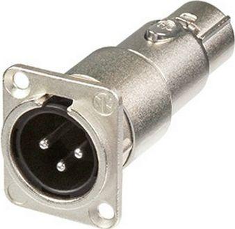 Adapter XLR-han chassis gennemføring > hun kabel