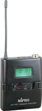 Mipro mikrofon lommesender ACT52T frekv.5D = 597~608 MHz