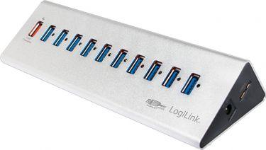 LogiLink - USB 3.0 HUB - 10+1 porte inkl. 3,5A strømforsyning