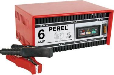 PEREL - Bilbatterilader til 12V blybatterier, 6A