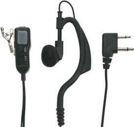 MIDLAND - MIDLAND - MA21-L hovedsæt m. revers mikrofon m. PTT
