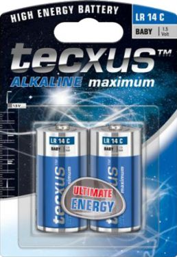 Tecxus - Tecxus - Alkaline C/LR14 batteri 1,5V (2 stk.)