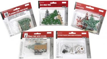 Velleman - MiniKit startsæt m. 5 jule-kits (MK100, 101, 130, 167, 169R)
