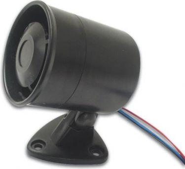 Piezo summer m. sirene udformning - 12Vdc /200mA, 115dB
