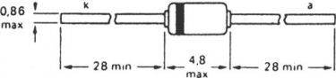 Zenerdiode - 3,9V / 1,3W ±5% (DO41)