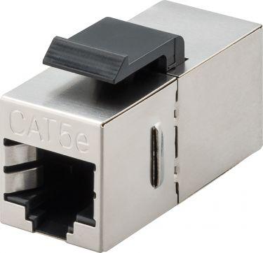 RJ45 keystone fatning - CAT5e 100MHz skærmet, 2 x RJ45 hun