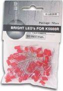 Velleman - Lysdioder - 50 stk. 5mm rød LED (20-80 mcd)