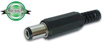 DC stik - Ø6,3 x 3,0 x 10mm i plasthus (HQ)