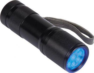 PEREL - Lommelygte m. UV lys - 9 x UV LED