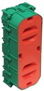 Indmuringsdåse - 2½ modul, GRØN (Fuga tilpasset)