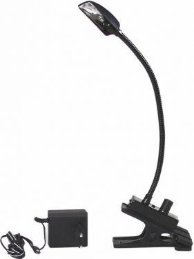 Eurolite - Flexilight svanehalslampe m. clip og netadapter