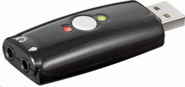 USB 2.0 lydkort - USB A til 2 x 3,5mm Jack +mute