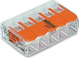 Wago - Kabel samlekonnektor - 5 x 0,2-4mm², til alle ledningstyper