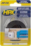 HPX - HPX ZIP FIX velcrotapesæt - 20mm, 1m krog + 1m lykke