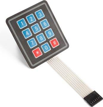 Velleman - 3x4 membran tastatur til Arduino®