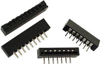 Film kabel konnektor - 14 kontakter, 90°