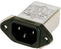 EMI/EMC Støjfilter 250V 10A - LEAK .35mA MAX
