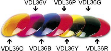 Farvefilter til PAR36 spot - Blå