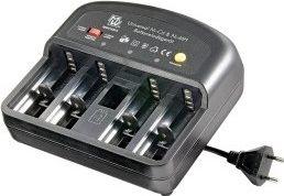 HQ - Universal NiMH batterilader - AA, AAA, C, D og 9V E-blok