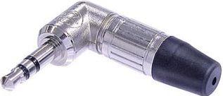 NEUTRIK - Neutrik - 3,5mm stereo JACK han, 90° (nikkel)