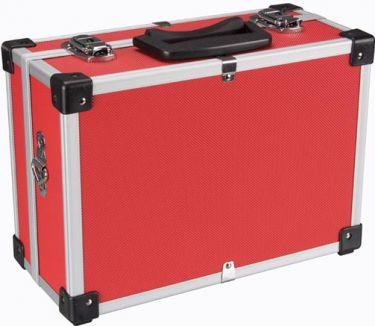 PEREL - Alu. værktøjskuffert - 320 x 230 x 155mm, Rød