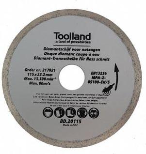 Toolland - Diamantskæreskive t. vådskæring - Ø180 x 25,4mm