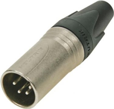 NEUTRIK - Neutrik - XLR 4-pol han kabelstik, Sølvbelagt nikkel