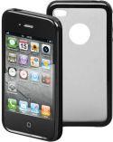 GOOBAY - Hard cover til iPhone 4/4s m. silikone bumper - Sort