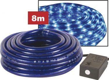 Lysslange m. glødelamper - 2 kanals, blå m. styring (8m)
