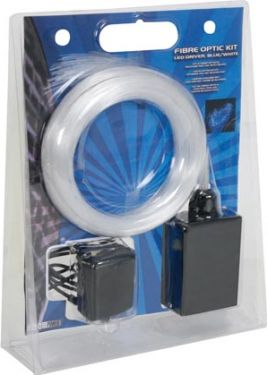 Fiberoptisk lyssæt - 155 fibre (2m), LED driver blå/hvid