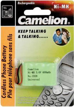 Camelion - Camelion - NiMH t. trådløs tlf. 3,6V 600mAh (universalstik)