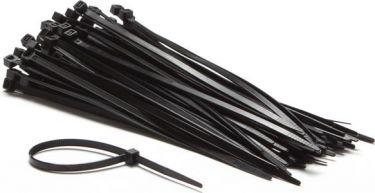 PEREL - Kabelstrips - 4,8 x 200mm, Sort (100 stk.)
