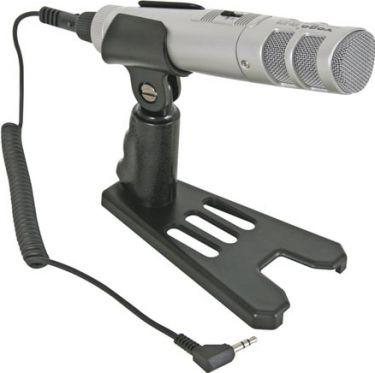 Stereo elektretmikrofon m. bordstand og 3,5mm stereo JACK