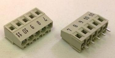 Skrueterminal - 5 pol, grå, 5mm benafstand