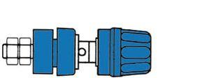 Hirschmann - Hirschmann - Klemskrue isoleret, Blå 4mm (PKI 10A)