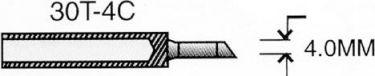 Spids til VTSSC30 - 4,0mm flad og skrå