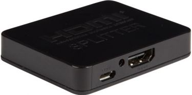 Velleman - HDMI splitter - 1 ind til 2 ud m. DC, 4K (Ultra HD)