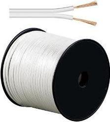 GOOBAY - Højttalerledning - 2 x 1,5mm² CCA, hvid (metervare)