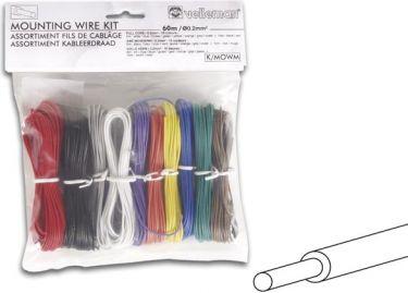 Velleman - Ledningssortiment - 10 farver, 60m, 0,20mm² (massiv)