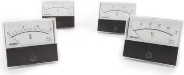 Analog spændings-panelmeter - 50V DC (70x60mm)
